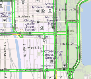 Tile at zoom level 14: shows more detailed traffic flow overlay.